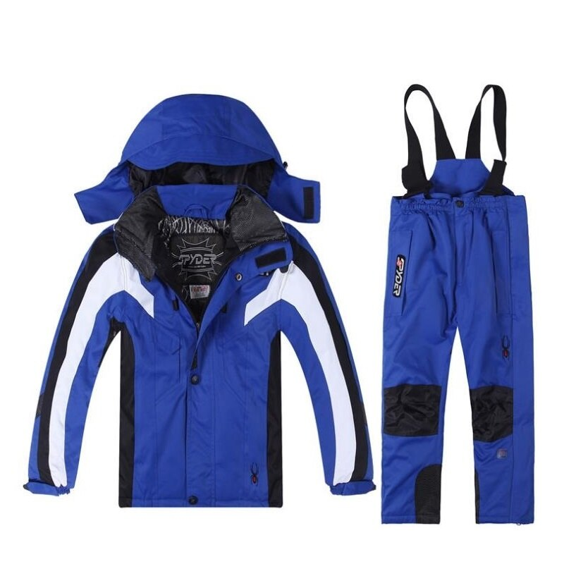 High-Quality Boys and Girl Ski Suit Teenager Jacket Windproof Coats and Pant Kids Skiing Suit Waterproof Clothes 3-8 Year