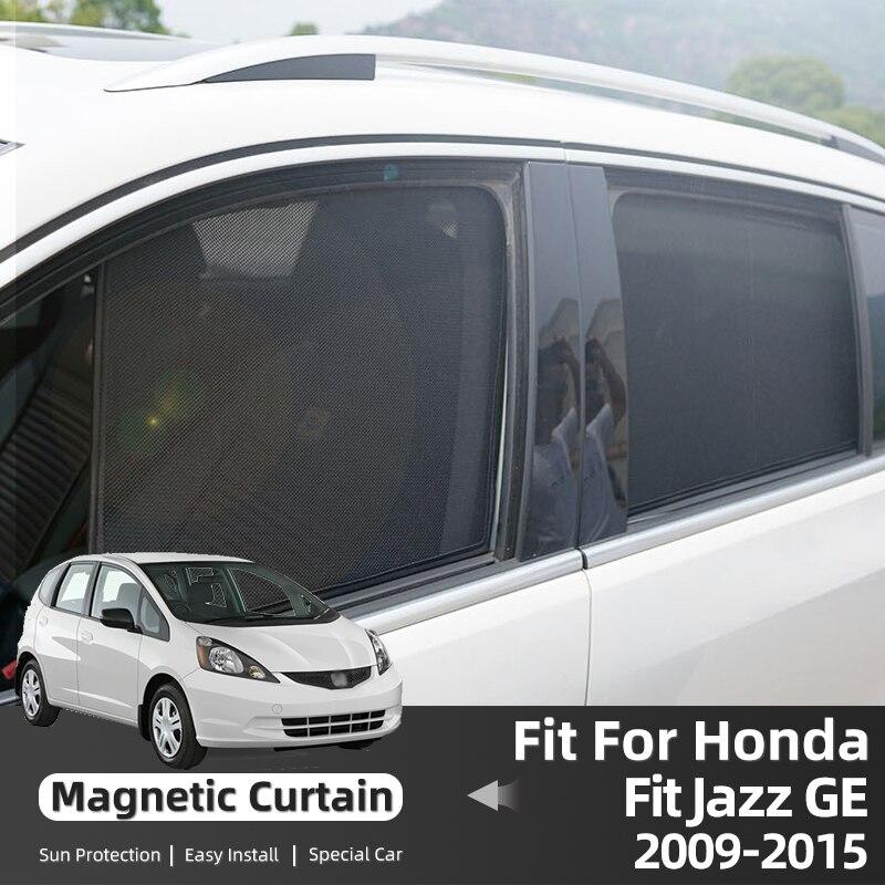 Магнитные рамки для Honda Fit Jazz GE 2010-2015 Автомобильные Боковые солнцезащитные козырьки сетчатые солнцезащитные шторы для стекла затенение