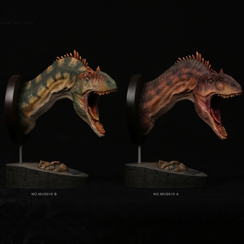 Estatua de cabeza de Allosaurus de la serie Museo MUS010 de DAMTOYS, estatua coleccionable en stock