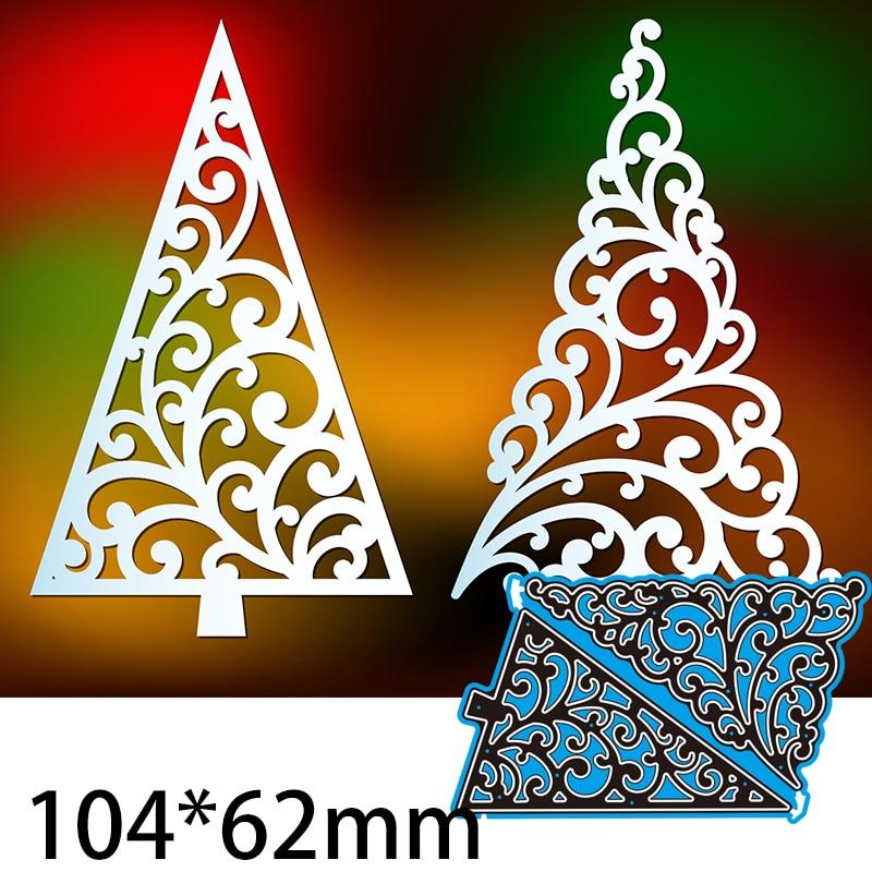 Cutting Dies  Laser Cut Christmas Tree Templates Set DIY Scrap Booking Photo Album Embossing Paper Cards 104*62mm