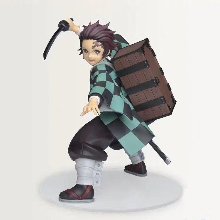 Figura de Kimetsu No Yaiba de Sega, modelo Original de PVC de 15cm, figuras de Kamado Tanjirou