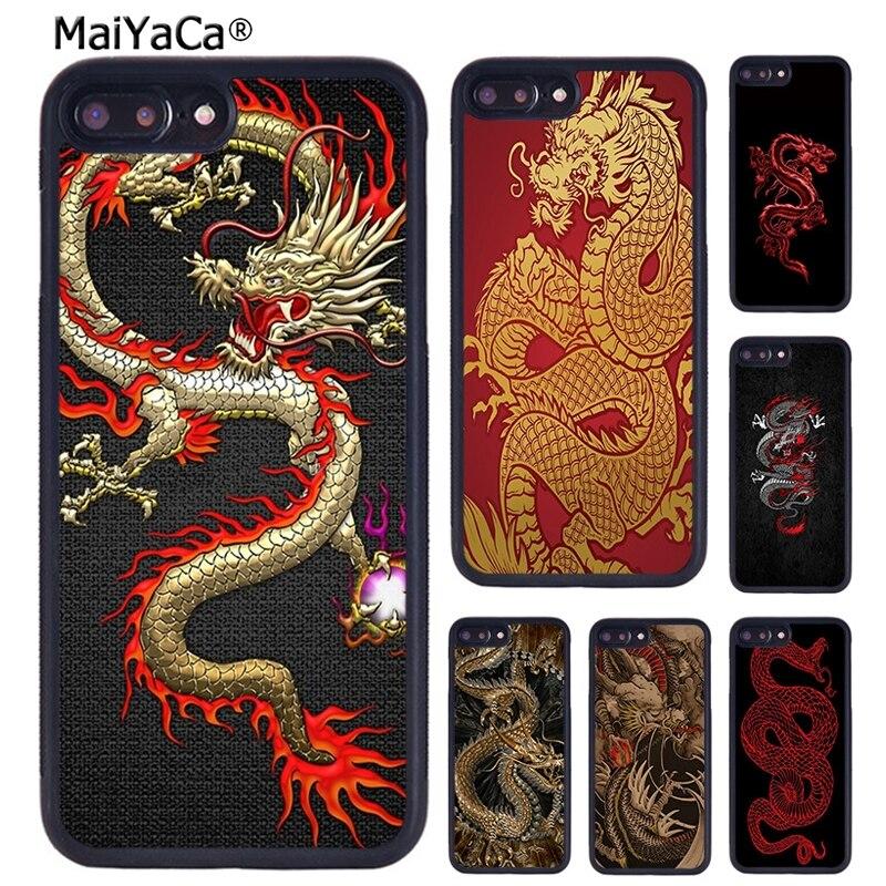 MaiYaCa asiático chino dragón funda para teléfono para iPhone X XR XS 11 Pro MAX 5 se 6 6 S 7 7 8 Plus, Samsung Galaxy S6 S7 S8 S9 S10 plus