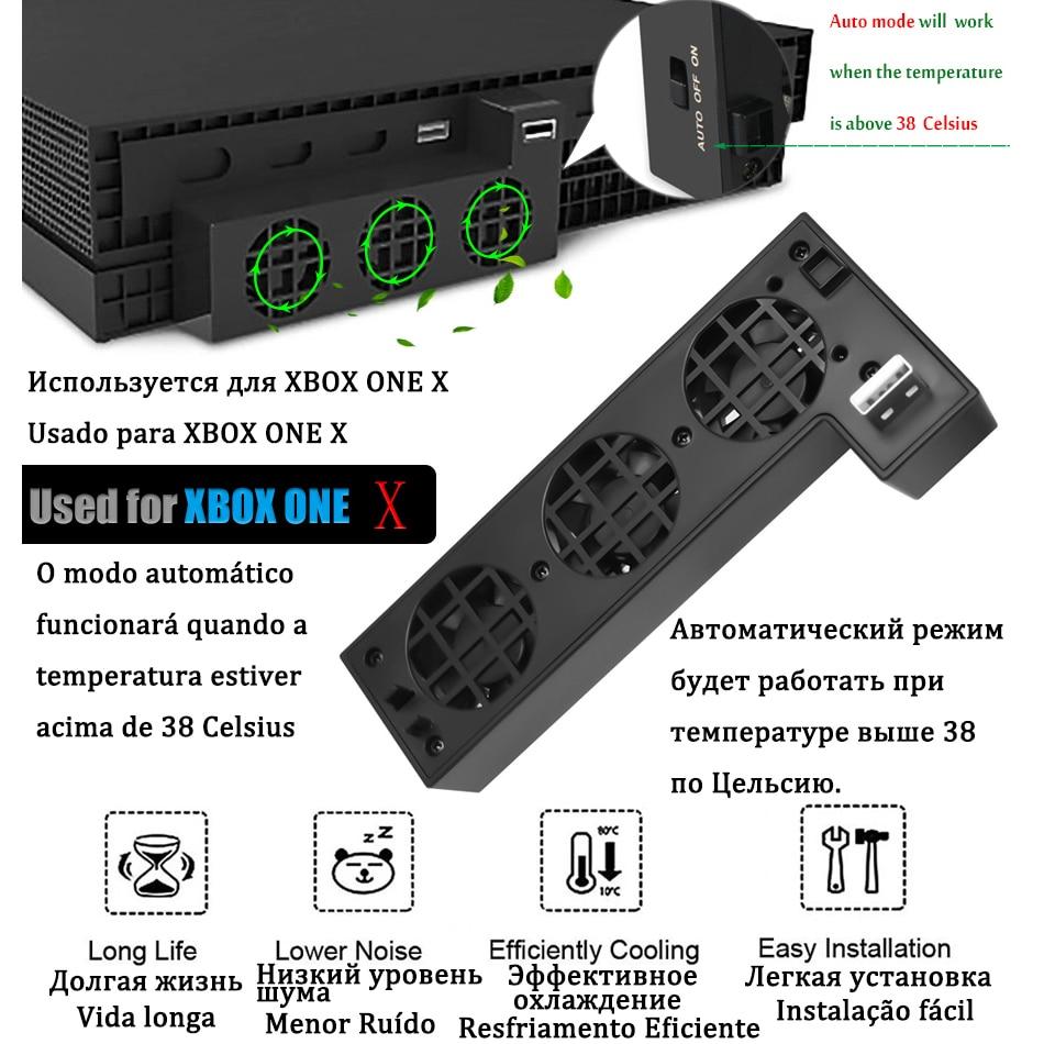 Cooling Fan Cooler Control for X Box Xbox One X Console Controller USB Gadget DC 5V Ventilator Refrigerator Ventilador Fanar Fan 10