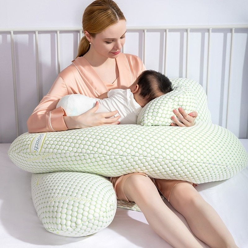 Breathable Maternity Nursing Sleeping Pillow For Side Sleeper Pregnancy Pillow Waist Lumbar Support Pregnant Cushion