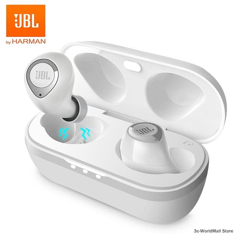 JBL-سماعات أذن لاسلكية ، C100TWS ، بلوتوث 5.0, سماعات أذن ستيريو ، جهير قوي ، مع حافظة شحن ، صوت ، ألعاب رياضية