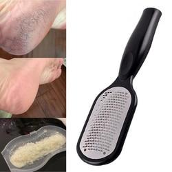 1 pçs arquivo de aço inoxidável reutilizável pé rasp cuidados com os pés removedor de calo morto duro esfoliante pedicure fácil limpo pedicure ferramentas