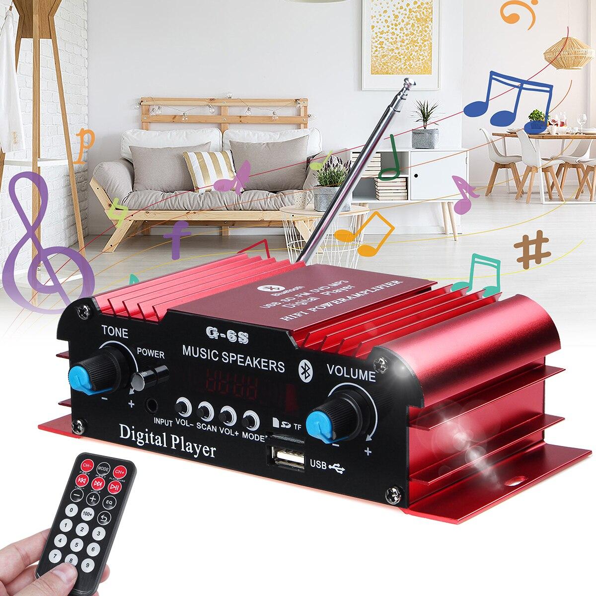 Amplificador DE Audio HIFI para coche, 600W, 12V, 2 canales, Amplificador de...