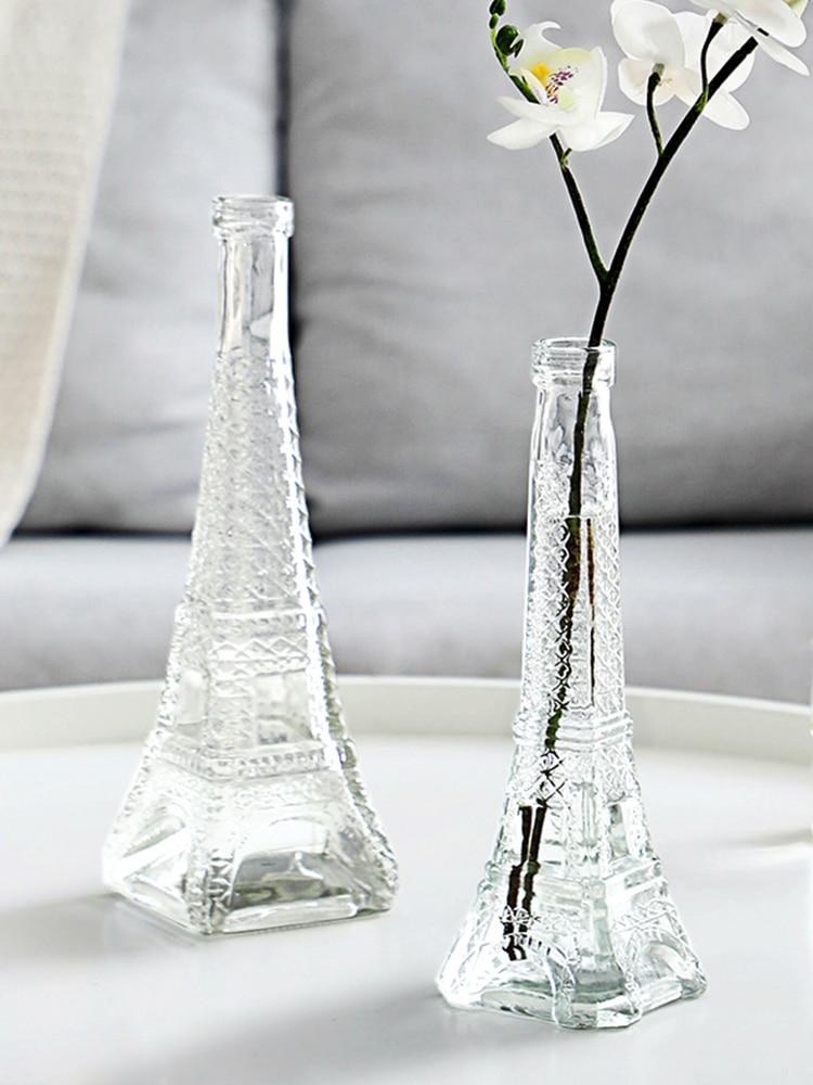 Miniflorero moderno de Cristal transparente, jarrón de Cristal de estilo nórdico, para...