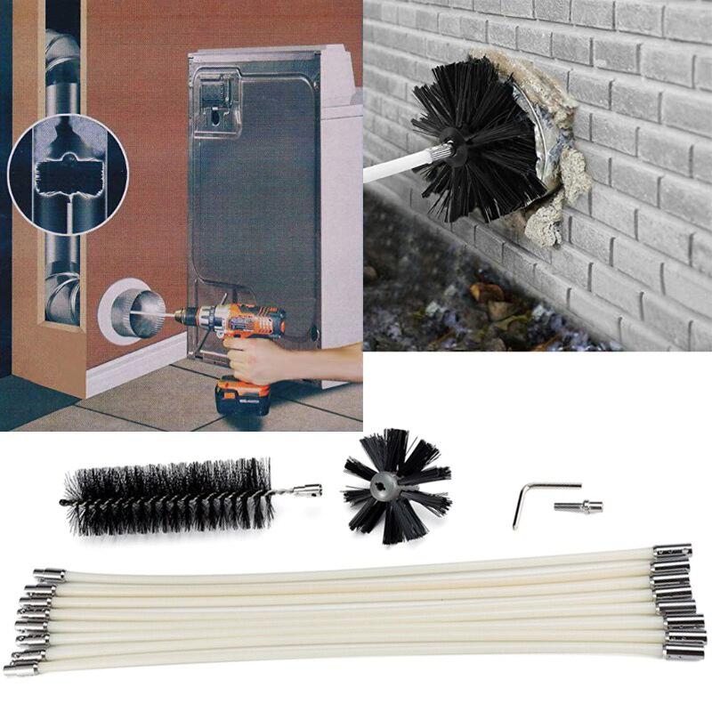 Cepillo de limpieza varilla Flexible barredora rotatoria chimenea limpieza accesorio