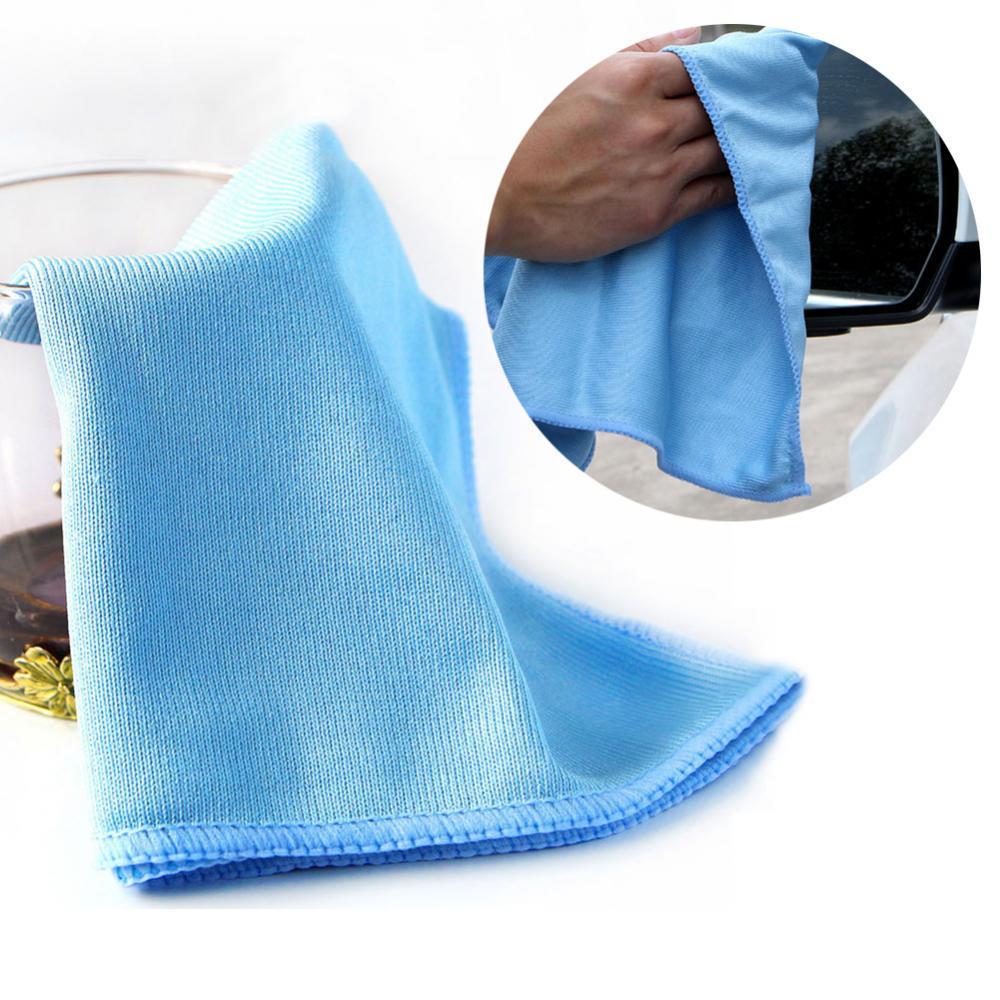 Car Microfiber Glass Cleaning Towel Polishing Window Windshield Washing Cloth автомобильные товары Аксессуары для моек Cloths