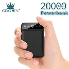 Power Bank 20000mAh Dual USB Mobile Phone External Battery Fast Charge For iphone xiaomi mi Portable