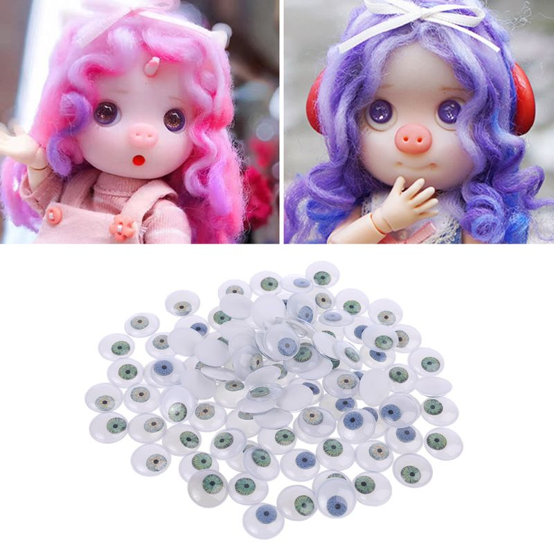 100 Uds. 15mm DIY muñeca marioneta de plástico ojos de seguridad para oso hecho a mano muñeca artesanía niños juguete
