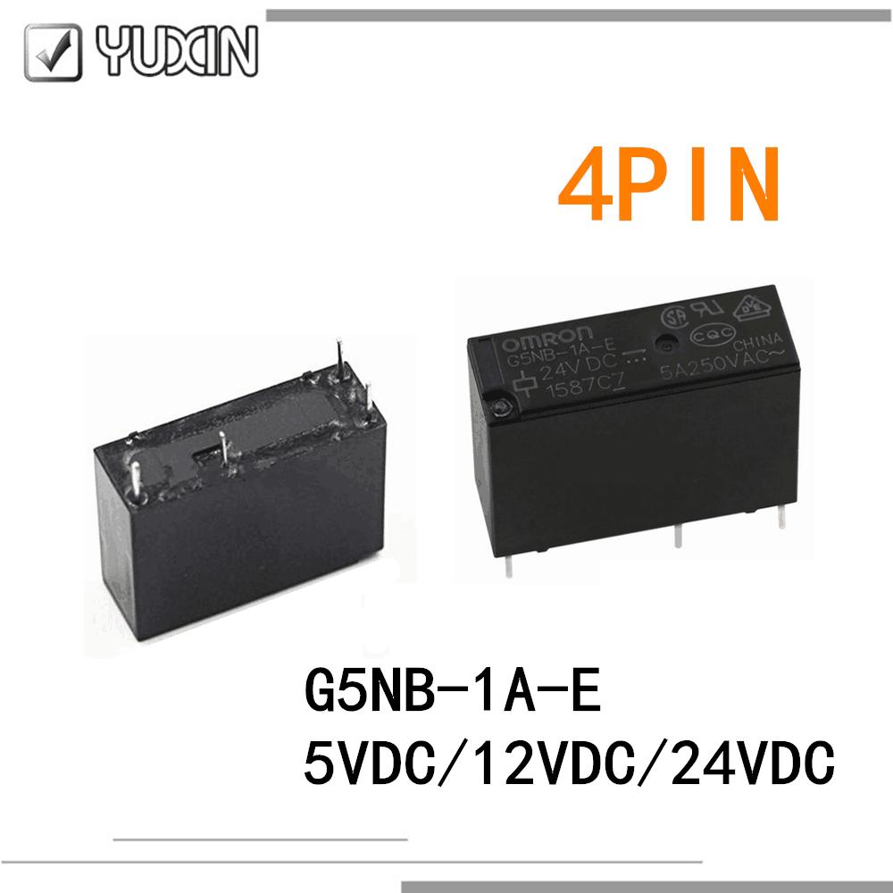 5 PÇS/LOTE 100% Original & New Relé G5NB-1A-E G5NB-1A-E-5VDC G5NB-1A-E-12VDC G5NB-1A-E 24VDC G5NB 1A E 5V 12V 24V 4PIN