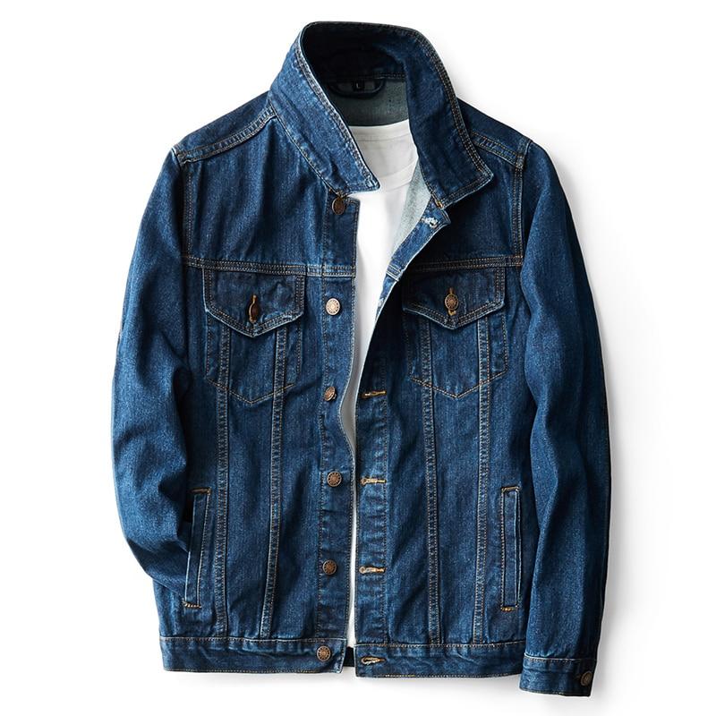 3xl 4xl 5xl jaqueta jeans masculina clássico novo outono simples jaqueta estiramento locomotiva azul hip hop jaqueta casual tendência denim
