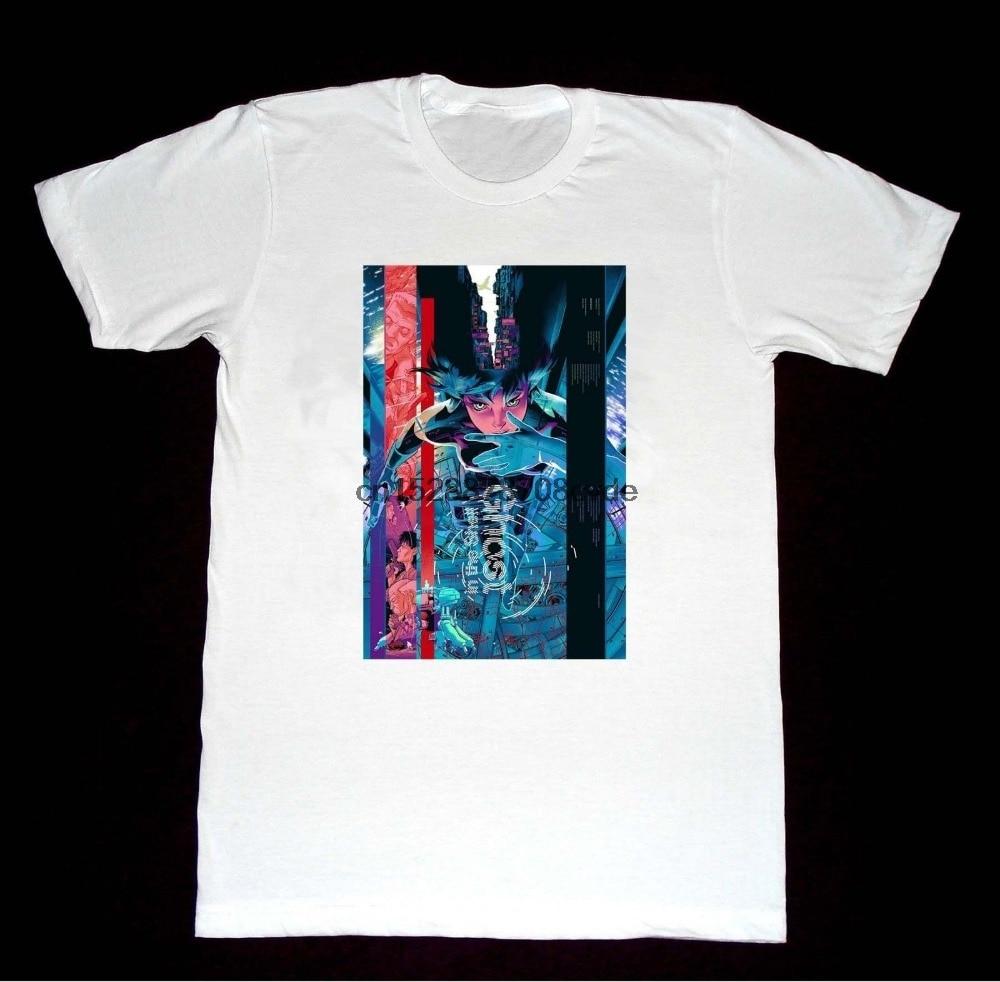 2019 nueva llegada hombres moda un fantasma en el Shell-Vertigo-Camiseta A7 camisa Anime película camisetas para hombres