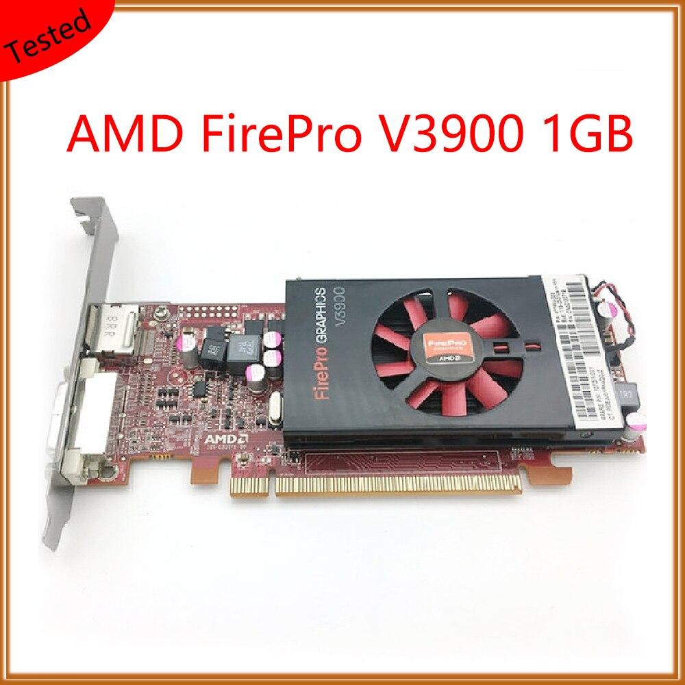 FirePro V3900 1GB For AMD بطاقة جرافيكس احترافية للرسومات ، النمذجة ثلاثية الأبعاد ، التقديم ، الرسم ، التصميم ، شاشة عرض متعددة