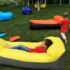 Inflatable Couch Portable Sofa Bag Outdoor Beach Lounger Water Floating Row Multifunction Home Yard Office Air Bed with Pillow