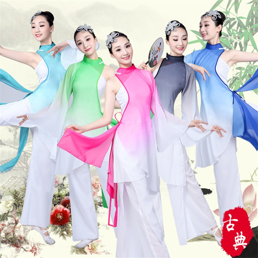 Hanfu tradicional traje de baile chino estilo vestido popular para mujeres trajes de festival clásico Yangko niña niños vestido de niña bebé