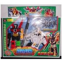 bandai super sentai action figures toy hyakujyuusentai ganranger combined animal robot modelweapon set collection boys toy gift