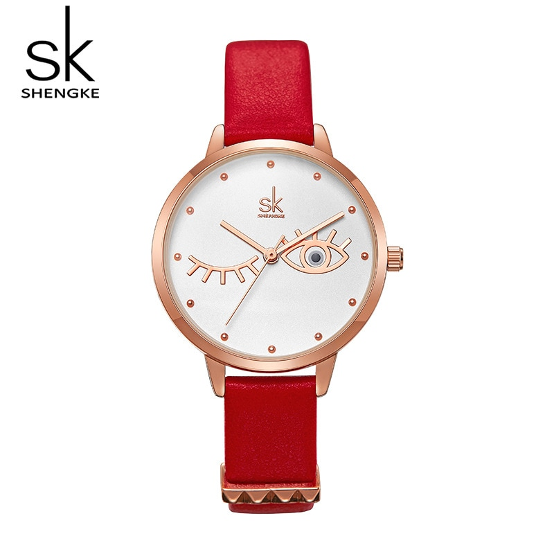 Anke Store Womens Watches New Fashion Original Design Leather Strap Deer Eye Casual  unique Quartz Waterproof Ladies Gold Watch enlarge