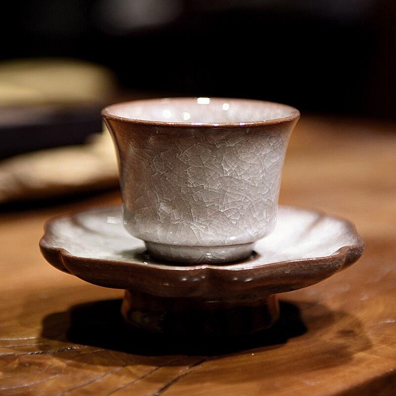 Longquan celadon دليل عينة فنجان شاي الجليد الكراك ماستر كوب واحد كوب الأخ الأكبر فرن أكواب من السيراميك kongfu الشاي