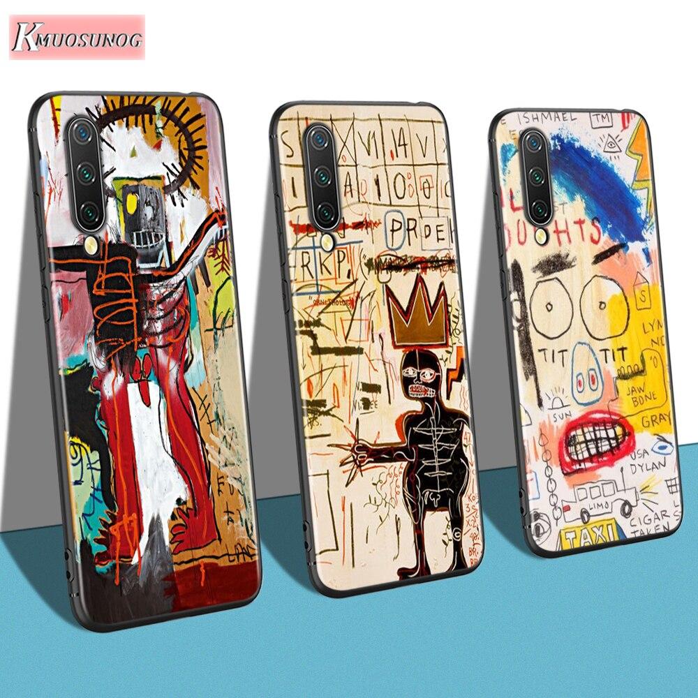 Jean mi chel Basquiat arte Graffiti para Xiaomi mi nota 10 9 8 Lite 9T SE negro cubierta para Xiaomi mi A1 A2 A3 CC9 SE Lite teléfono caso