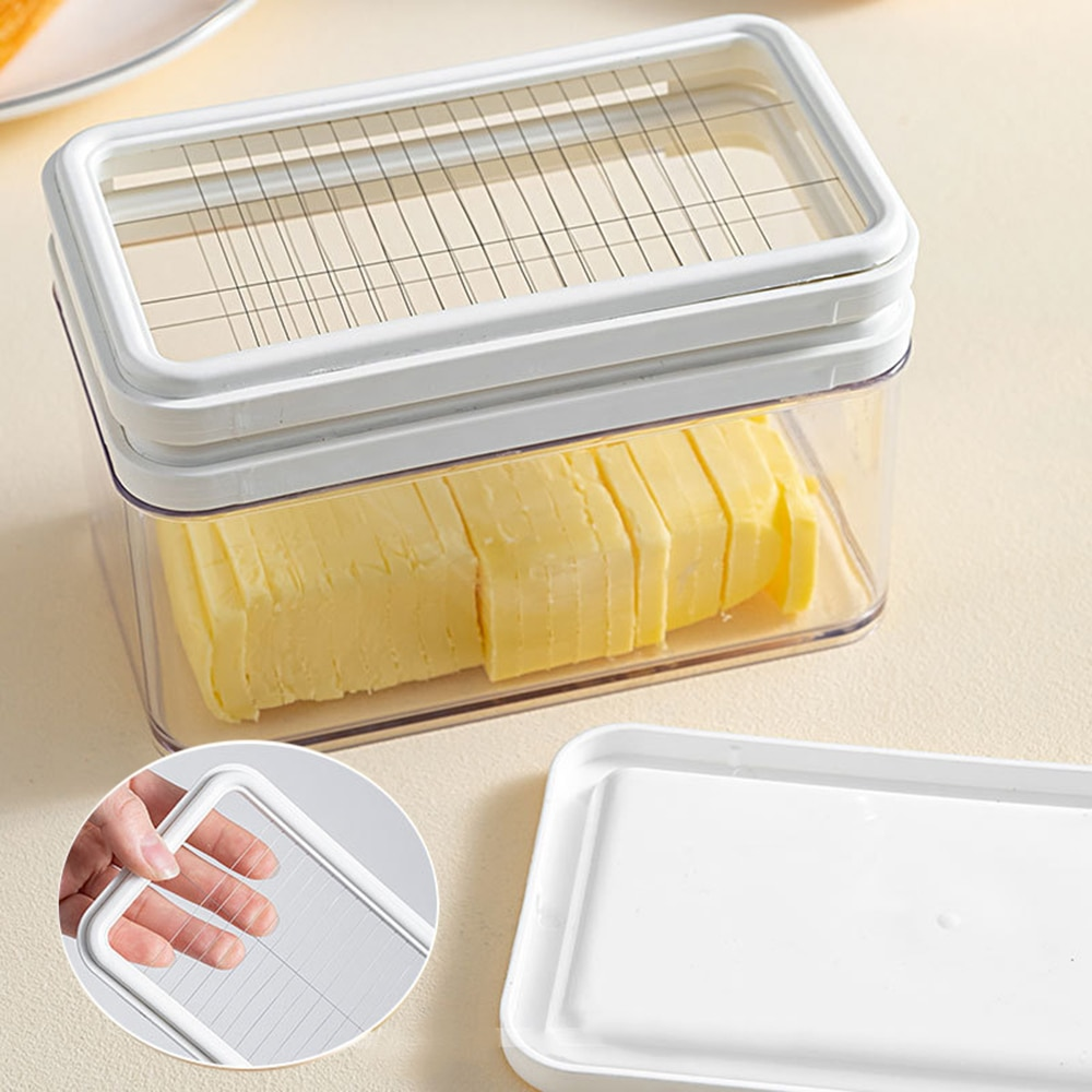 Butter Cutter Container Plate Tableware Cheese Fresh Box For Cutting And Storage Kitchen Gadgets Tools