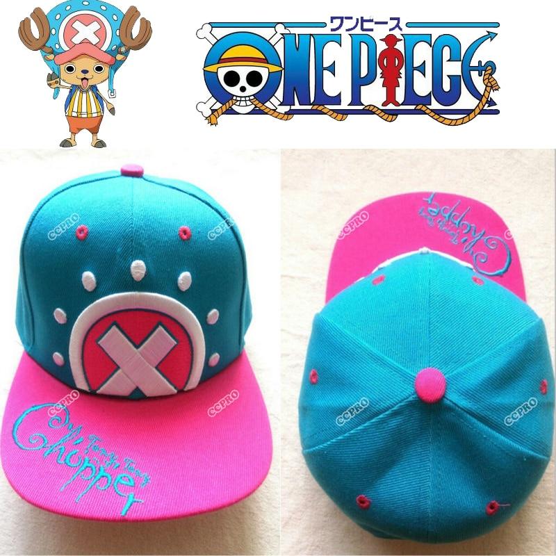 hip-hop Tony Tony Chopper ONE PIECE anime cosplay cartoon Japanese Hat Baseball caps Embroidery pattern недорого