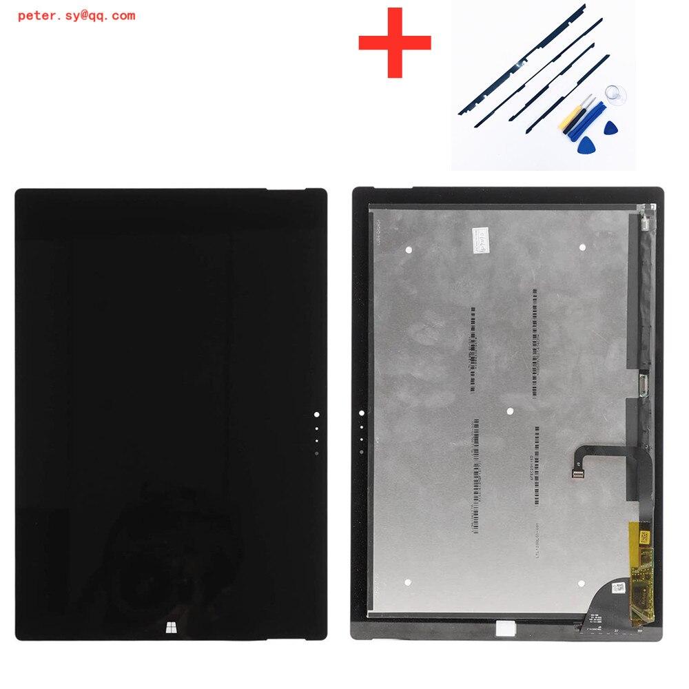 لمس الزجاج مع شاشة LCD الجمعية لمايكروسوفت السطح برو 3 12 بوصة 1631 شاشة الكريستال السائل محول الأرقام