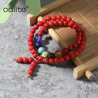 7 chakra bracelet synthetic red turquoises beads round homme femme charms men strand beads yoga bracelets women