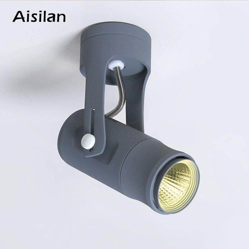 Lámpara LED de techo Aisilan, nueva, moderna, montada en superficie, COB, blanca, 7W, para sala de estar, dormitorio, lámpara de fondo