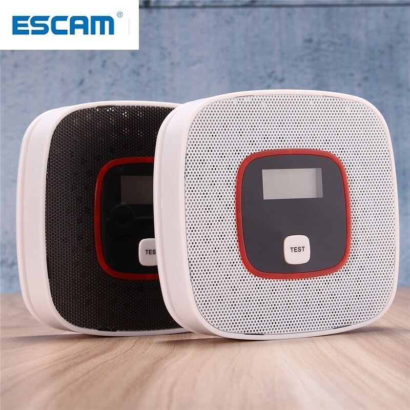 ESCAM LCD CO Carbon Monoxide Gas Alarm Sensor Poisoning Smoke Gas Tester Detector enlarge