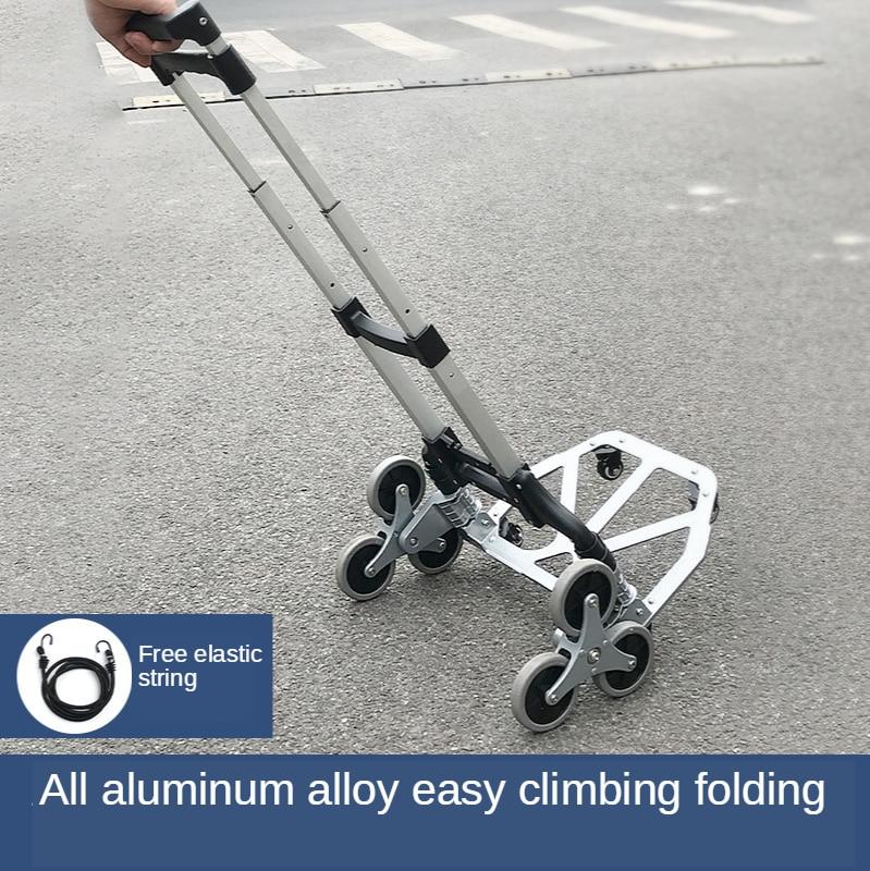 درج تسلق اليد سيارة عربة سيارة تسلق قطعة أثرية ستة عجلة درج تسلق سيارة تتحرك المنزل حمل للطي المحمولة