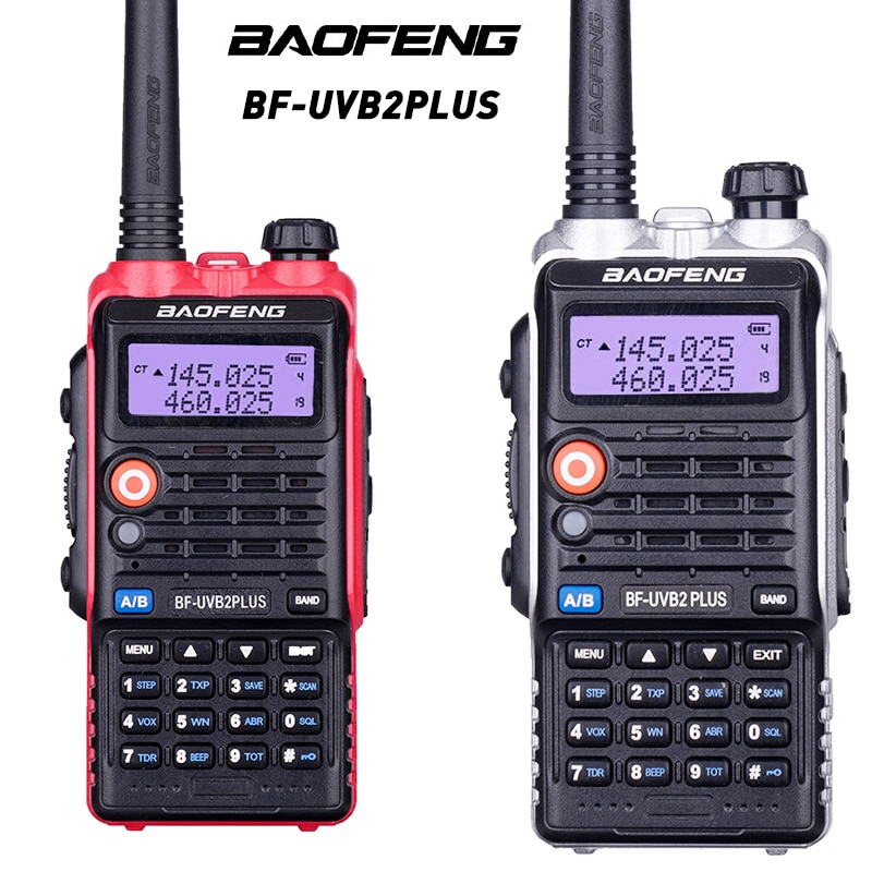 2PCS Baofeng Walkie Talkie Communication Equipment Portable Radio For Hunting Power 5w LCD Display LED Light 1800mah Battery