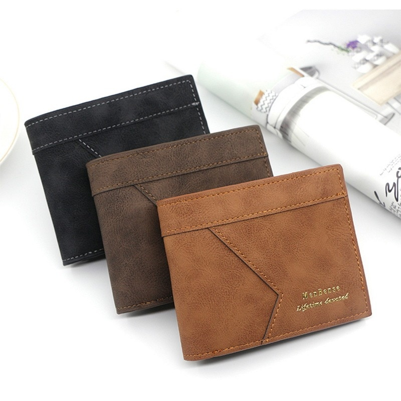 Business Wallet Men Fashion Solid Leather Money Bag Vintage Zipper Card Holder Multi-Card Purse Small Coin Gift For Men Hot Sale