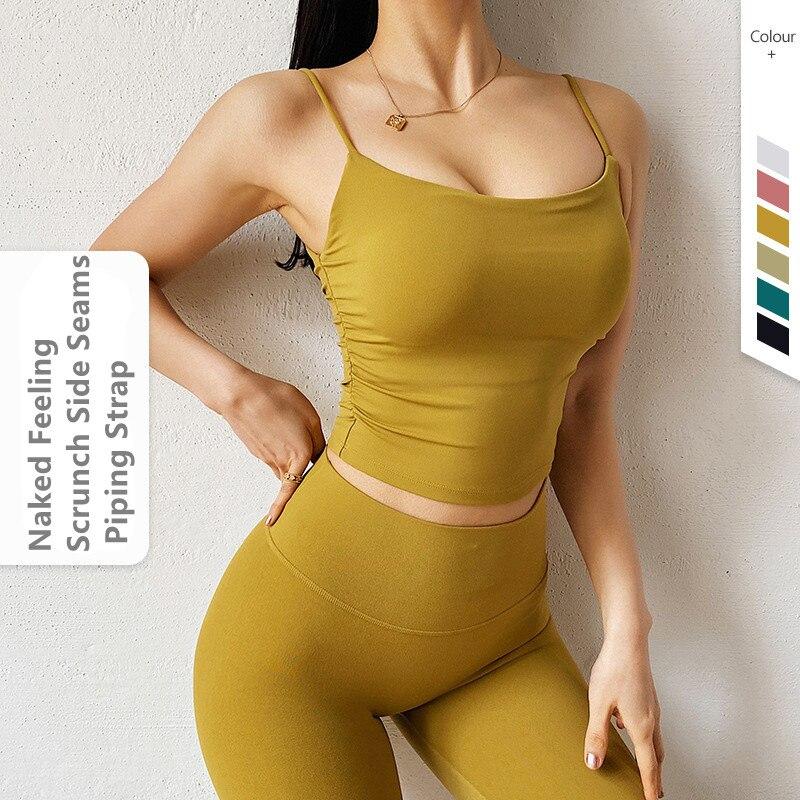 Las mujeres Tank Top Yoga Soutien Gorge sin armadura Debardeur mujeres Blusas...