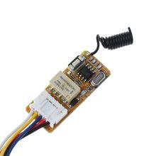 1 ensemble 5V-12V 433MHz télécommande commutateur 2CH Mini lumière LED récepteur émetteur U2JE