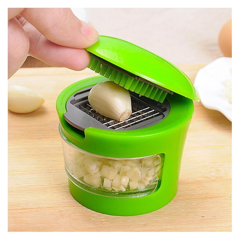 1 pcs Cut the garlic cutter with a multi-function garlic cutter kitchen small tool garlic press