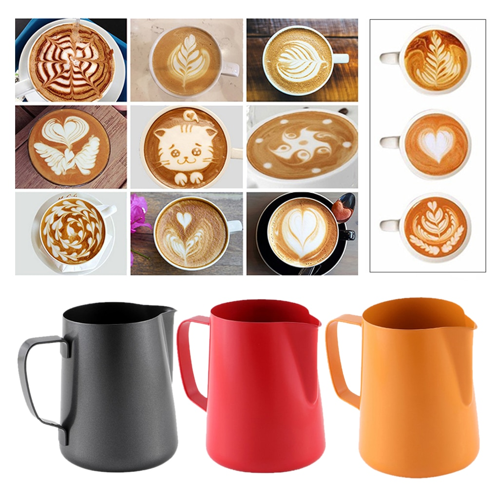 Stainless Steel Milk Frothing Jug Cafe Coffee Mug Frother Latte Pitcher Foam Cup