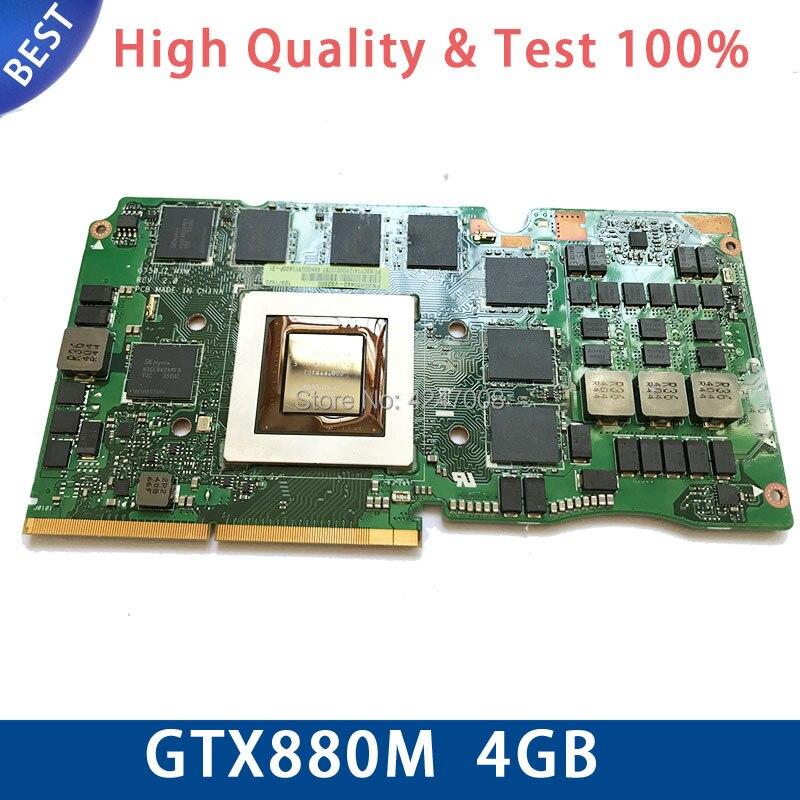 Фирменная Новинка gtx880m n15e-gx-a2 DDR5 4 Гб Видео VGA графические карты для Asus G750J G750JZ G750JS G750JH G750JW тест ОК