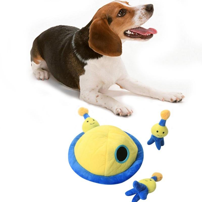 Animal de estimação pelúcia mastigar cão hound interativo quebra-cabeça brinquedo pelúcia esconder e procurar atividade para cães cão brinquedo rangido para limpeza dos dentes