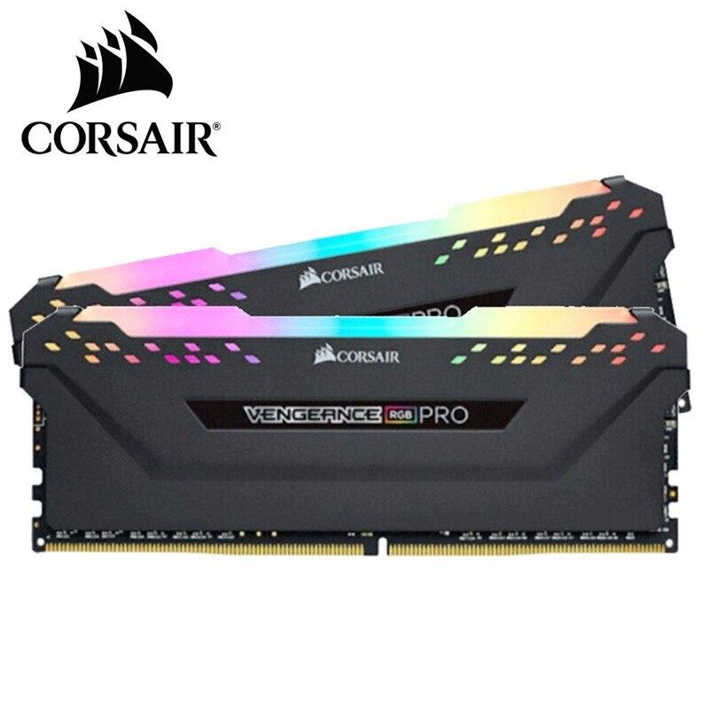 CORSAIR-ذاكرة خادم سطح المكتب ، موديل VENGEANCE ، DDR4 ، أسود ، ضوء RGB ، سعة 8 جيجابايت ، 16 جيجابايت ، 32 جيجابايت ، 3000 ميجاهرتز ، 3200 ميجاهرتز ، 3600 ميجاهرتز ...