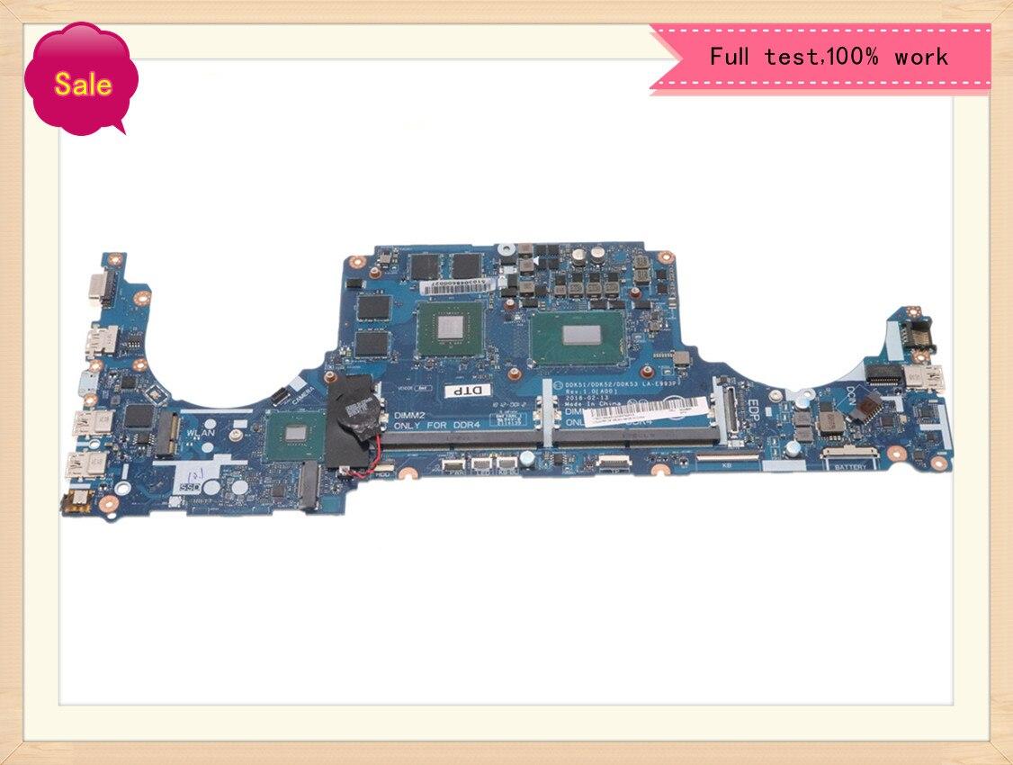لأجهزة الكمبيوتر المحمول Dell G5 5587 الأصلي LA-E993P اللوحة الأم I7-8750H GTX1050-4GB دفتر 100% العمل