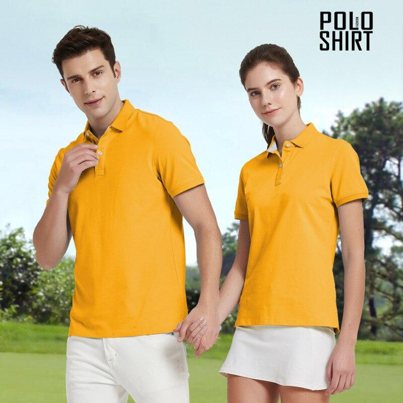 قميص بولو للرجال والنساء, قميص بولو بلون سادة بتصميم مخصص
