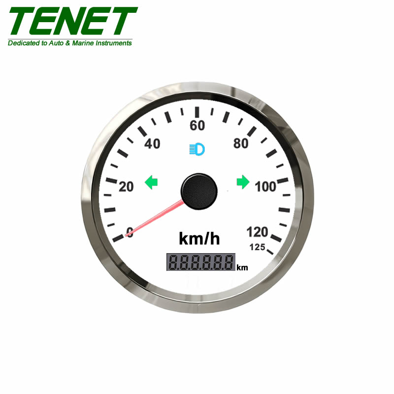 3 Wheeler Tuk Tuk Digital Speedometer, Needle Type Chrome Bezel with Anti-fogging Performance  - buy with discount