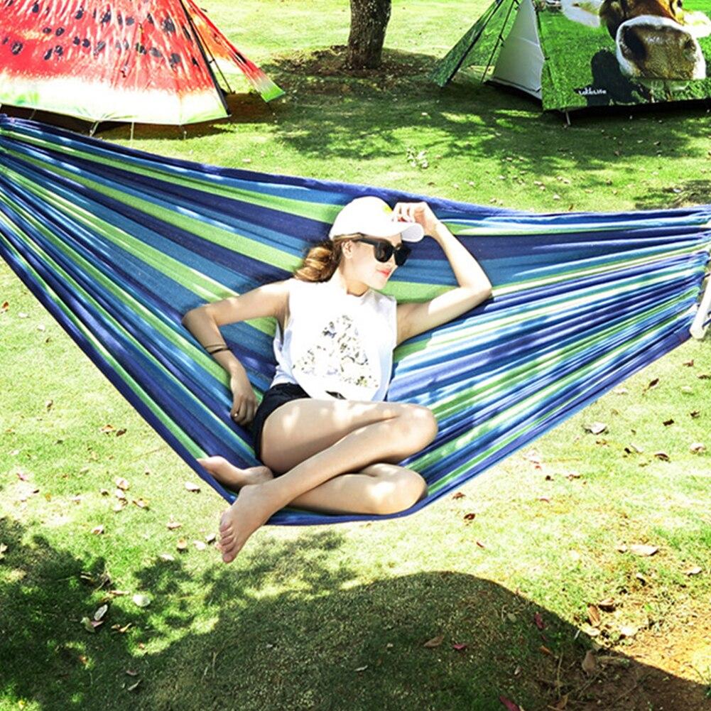 Туристическое портативное подвесное постельное белье, двухместное качели для кемпинга на открытом воздухе, кровать из толстой холщовой тк...