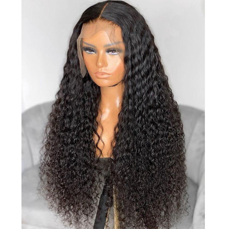 180% الكثافة 26 بوصة طويل غريب مجعد الدانتيل شعر مستعار أمامي للنساء السود مع Babyhair خط الشعر الطبيعي الاصطناعية غلويليس يوميا