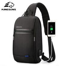 Kingsons New 10 Inch Men Crossbody Shoulder Bag Male Sling Chest Cross Body bags Messenger Handbag W
