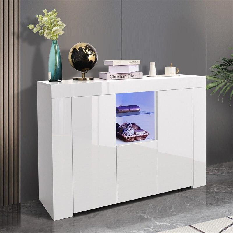 منظم خزانة مطبخ مع مصباح ليد قائما بذاته خزانة غرفة الطعام خزانة مع درج اكسسوارات المطبخ