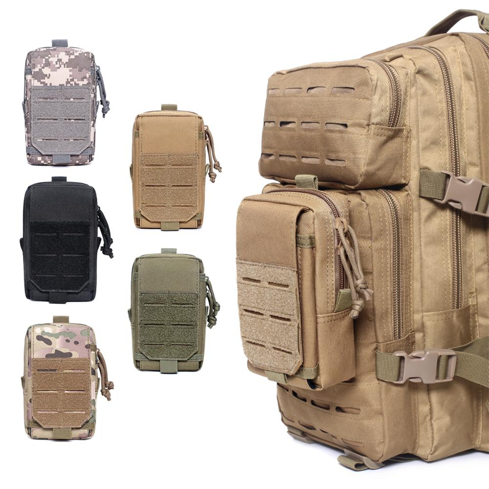 EDC Tactical Molle Phone Pouch Mobile Phone Case Holder Utility Military Hunting Accessories Cellphone Waist Pack Vest Pouches
